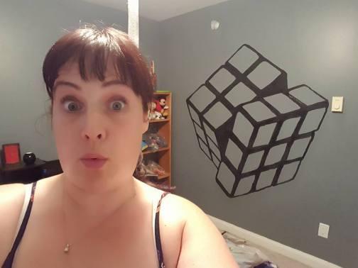 Rubik's Cube wall mural