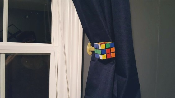 Rubik's Cube Curtain Tie-back